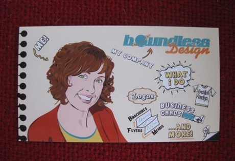 Boundless Graphic Design Card business card