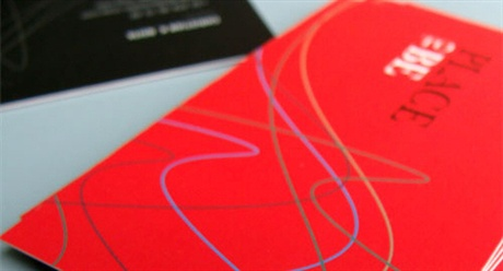 Bold Red Cards business card