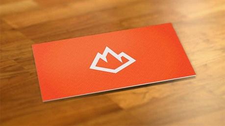 Bright Orange Business Card business card