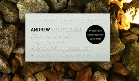 Braille Business Cards business card