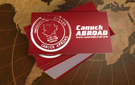 Canuck Abroad business card