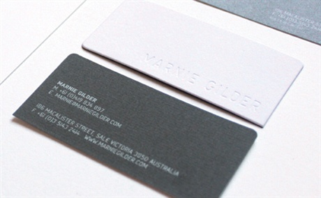 Charcoal Grey Letterpress business card