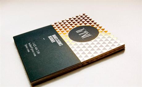 7 Pine Silk Card business card