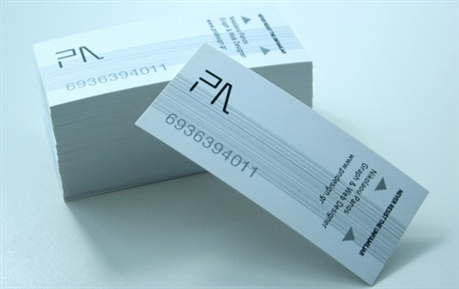 Athens Metro Ticket business card