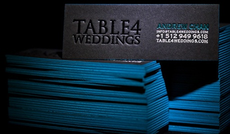 Black & Blue Letterpress business card
