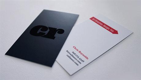 Black On Black business card