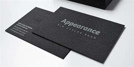 Black Letterpress Design business card
