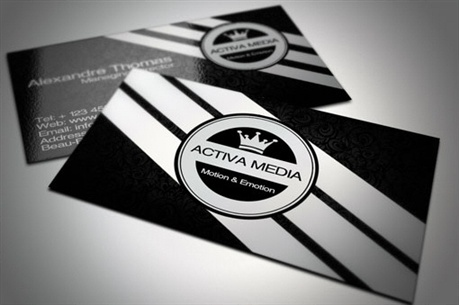 Black & White Business Cards business card