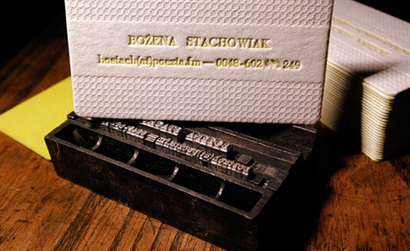 Movable Type Design business card