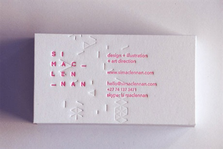 Patterned Business Cards business card