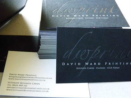 Silver & Black Foil business card