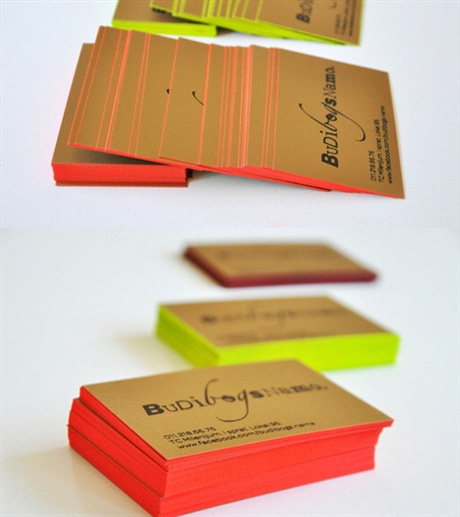 Edge Painted Identity business card