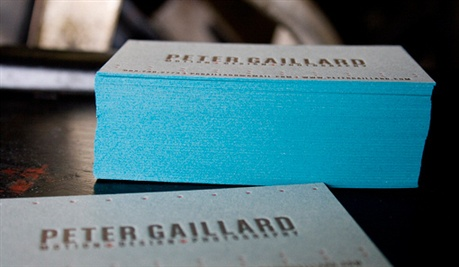 French Blue Letterpress Cards business card