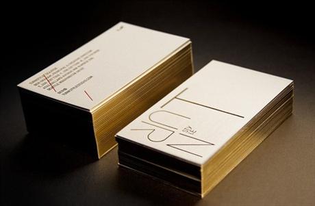Golden Letterpress business card