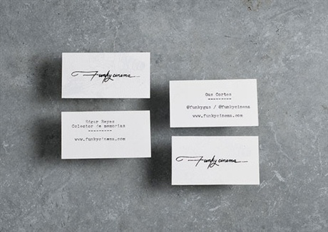 Hand Typed Business Card business card