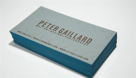 French Construction Paper Cards business card