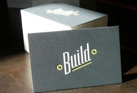 Letterpress Business Card On Thick Cardstock business card