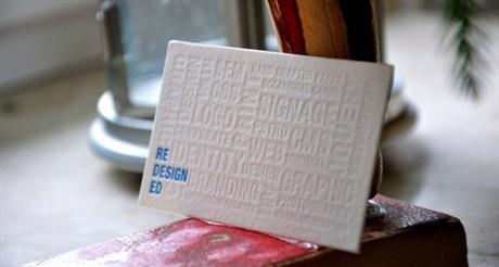 Letterpress Business Card business card