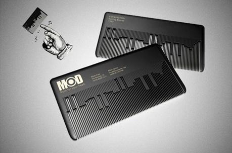 Innovative Business Card Design For a Hair Salon business card