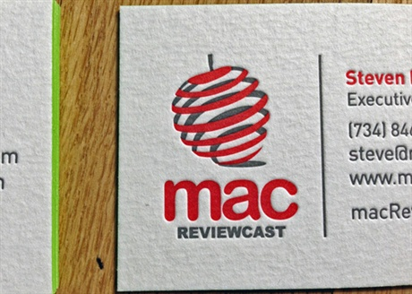 Mac Review Cast Business Cards business card