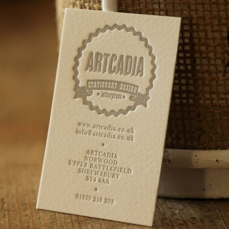 Letterpress Cotton Card business card