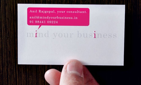 Mind Your Business business card
