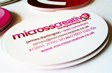 Micross Creative Identity business card