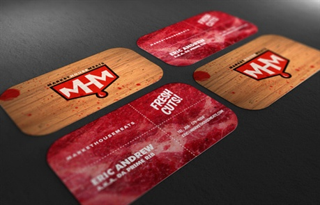 Market House Meats business card