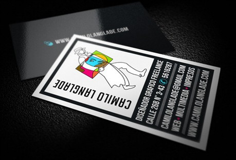 Simple Colorful Identity Card business card