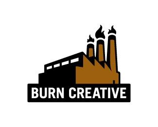 burn,factory,fire,industrial,agency logo