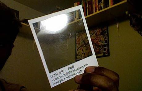 Polaroid  Template business card