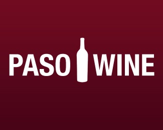 clean,simple,bottle,paso robles,paso robles wine logo