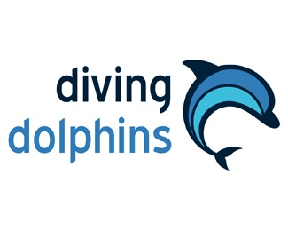 blue,water,dolphin,sea,dive logo