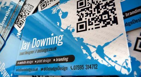 Debadge Design business card