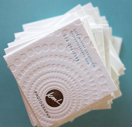 Dingbat Letterpress Card business card