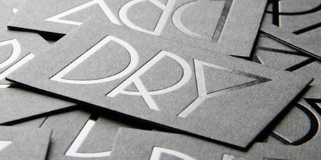 Dry business card