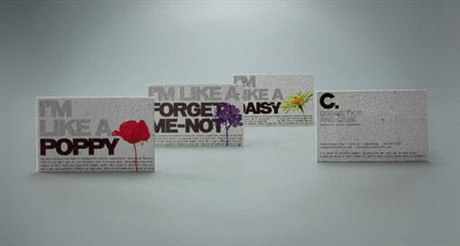 Edible And Plantable business card