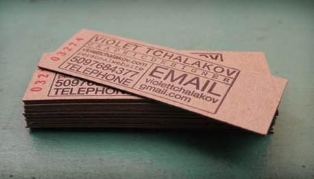 Chipboard Letterpress business card