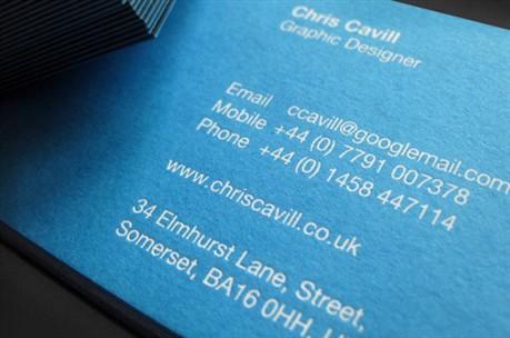Chris Cavill Design business card