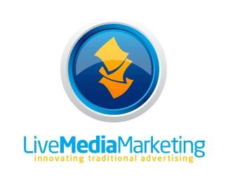 blue,live,media,marketing,2.0 logo
