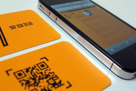 QR Orange business card