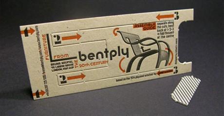 Clever 3D Letterpress  Design business card