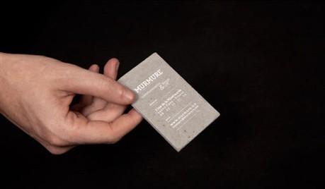 Concrete business card