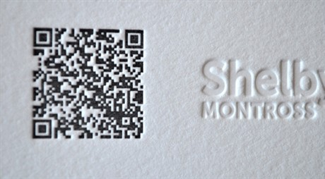 QR Code Letterpress business card