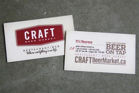 Craft Beer Market business card