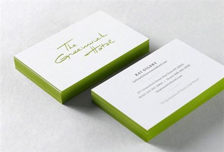 Greenwich Hotel Identity business card