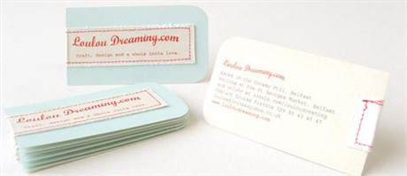 Hand Stitched business card