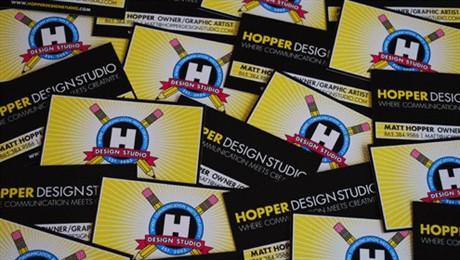 HOPPER Design Card business card