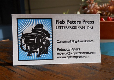 Reb Peters Press business card