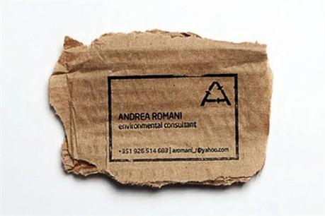 Environmental Friendly business card